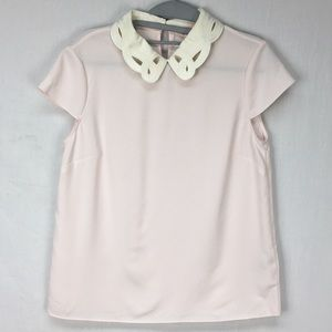 Ted Baker Athilia Embroidered Scallop Collar Top